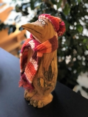 Holzfigur Pinguin