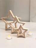 Sterne 3er Set Holz