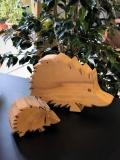 Holzfigur Igel groß