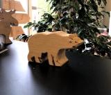 Holzfigur Eisbär