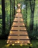 Weihnachtsbaum geradlinig groß