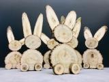 Hase aus Baumscheiben